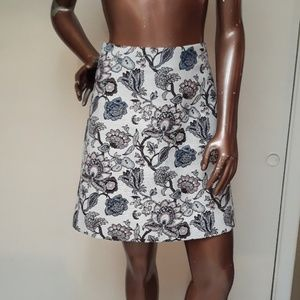 Like New Loft  Brocade Floral Paisley Skirt